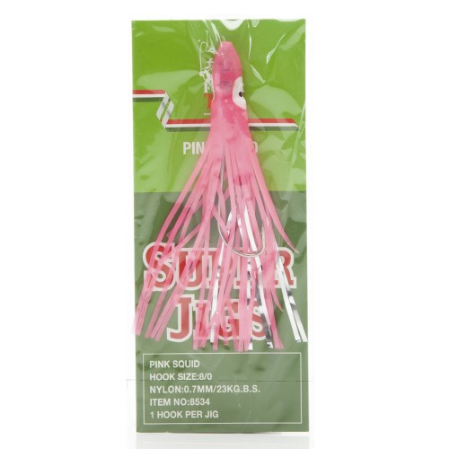 Force Ten Trolling Skirt - F10 Pink Squid Rigged - 8534